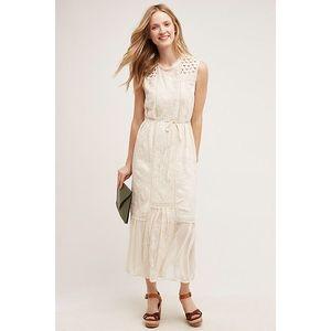 Anthropologie Tiny Marguerite Lace Midi  Dress